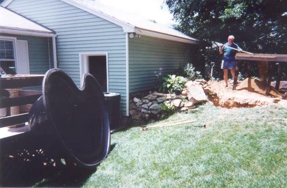 July 4th weekend 1999, Installing Pond #1