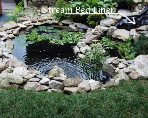 Stream Bed with liner 6-19-00